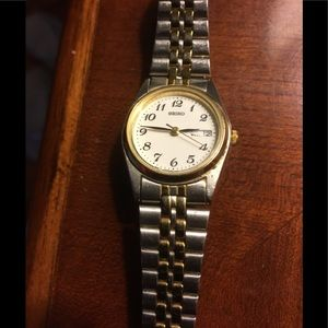Seiko Silver and Gold Watch